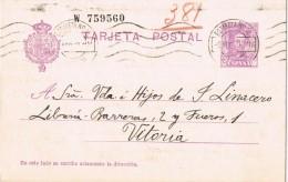 19417. Entero Postal Alfonso XIII Vaquer, MADRID, Estafeta 12 , 1929 Edifil Num 57naa º