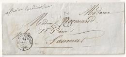 LAC Doué La Fontaine, Maine Et Loire. 1859. - Marcophilie (Lettres)