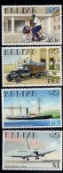 1999 Belize UPU Transport Bicycle Ship Plane Complete Set Of 4 MNH - Belize (1973-...)