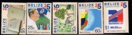 2006 Belize Independence Complete Set Of 5 MNH - Belize (1973-...)