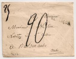 MARQUE 24 DESANCON Doubs Sur Enveloppe. - Storia Postale
