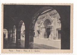 C451 !!! PESARO PORTICI E CHIESA S. AGOSTINO 1948 F.G. !!! - Pesaro