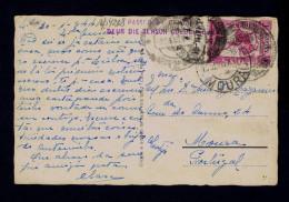 "ANGOLA Luanda 1944 Sensor ""passed By Censor"" Sports Municipal Stadium Football Postcard Moura PORTUGAL Sp4208 - Angola"