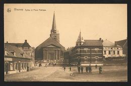 +++ CPA - WASMES - Eglise Et Place Publique - Nels   // - Colfontaine