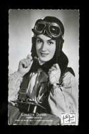*Colette Duval* Francia. Campeona Del Mundo, Rio Janeiro 1935. Foto 89x139 Mms. Firma Autógrafa. - Paracaidismo