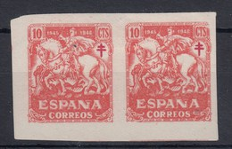 0622 EDIFIL Nº 993 S/D CON  CHARNELA PAREJA - 1931-50 Nuevos & Fijasellos