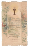 Santino.28 Prima Comunione 1900 Paris - Alte Papiere