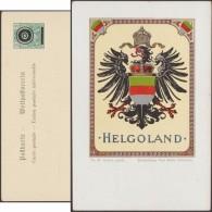 Allemagne 1901. Entier Postal Timbré Sur Commande Annulé. Helgoland, Heligoland, Armoiries, Aigle Allemand - Enveloppes