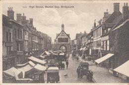 Royaume-Uni - Bridgnorth Shropshire  - High Street - Market Day - Shropshire