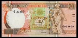 Malta 20 Lira 1994 P.48 UNC - Malta
