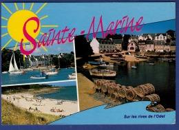29 COMBRIT STE-MARINE A L'estuaire De L'Odet, Petit Port De Ste Marine ; Voiliers, Casiers, Chalutiers 3 Vues - Animée - Combrit Ste-Marine