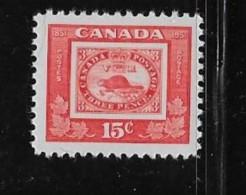 CANADA, 1951, #314,STAMP CENTENARY THREE PENNY BEAVER  M NH RANDOM STAMP - 1937-1952 Règne De George VI