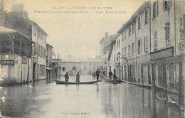 Saint-Laurent-lès-Macon - Inondations De Janvier 1910 - Rue Municipale - Collection Prudon - Overstromingen