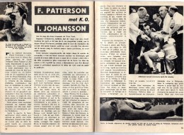 PATTERSON ) COMBAT PATTERSON -JOHANSSON - TEXTE ET PHOTOS -6 PAGES 20X15 - Boxe