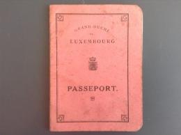 LUXEMBOURG - LUXEMBURG - AUS DEM JAHRE 1922 PASSPORT - AUSWEIS - Lussemburgo