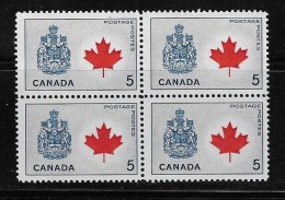 CANADA 1964. # 429A, PROVINCIAL  FLOWERS & COATS Of ARMS, CANADA   MAPLE LEAF , MNH