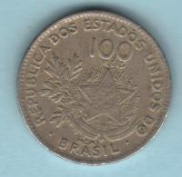 BRESIL Brasil 100 Reis  1901 **2 Scannes - Brésil