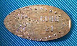 05007 ELONGATED COIN TOKEN EROTIC CLUB  21 - Pièces écrasées (Elongated Coins)