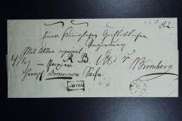 Poland: Letter 1829 Posen Poznan CDS To Bromberg Via Danysz Box Cancel During German Occupation - ...-1860 Prefilatelia