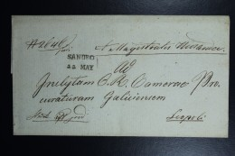 Poland: Letter 1832 Sandec Sacz To Leopoli (Lemberg Lwow) Line Sandec, Lemberg Receiving Cancel Austrian Zone - Polen