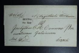 Poland: Letter 1832 Sandec Sacz To Leopoli (Lemberg Lwow) Line Sandec, Lemberg Receiving Cancel Austrian Zone - Poland