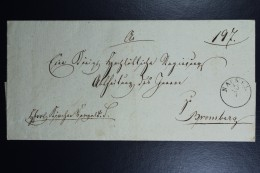 Poland: Letter 1837 Nachel Nakol (CDS 23/7) To Bromberg Bydgoszcz Receiving Cancel And Black Seal At Back - Poland