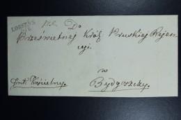 Poland: Letter 1841 Lobens Lobzenica Line Cancel 26/6 To Bydgoszcz  Rate 1 Zl - Polen
