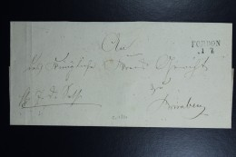 Poland: Letter 1840 Fordon Line Cancel To Bromberg Bydgoszcz Back German Receiving Cancel - Poland