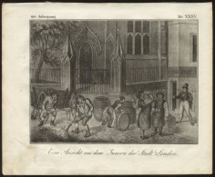 LONDON - ORIGINAL ENGRAVING ETCHING 1833 - Karlsruher Unterhaltungs-Blatt - Livres, BD, Revues