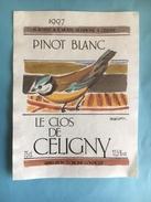 1844 - Suisse Genève Pinot Blanc 1997 Le Clos De Céligny Illustration Pascal Besson - Etiquettes