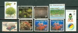 Singapore  1994-1996  9 Stamps  MNH - Singapour (1959-...)