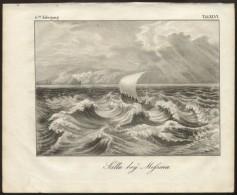 MESSINA - ORIGINAL ENGRAVING ETCHING 1833 - Karlsruher Unterhaltungs-Blatt - Art Prints