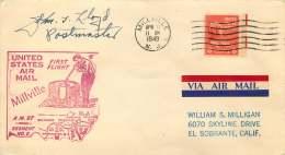 1949   US Air Mail First Flight AM 97, Segment 2  Millville NJ - Air Mail