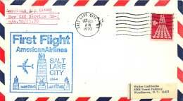 1970  First Flight  American Airlines Salt Lake City UT - Air Mail