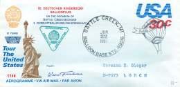 1981  Battle Creek MI  50th Baloon Flight For German Children's Village   Signed By Pilot - Air Mail