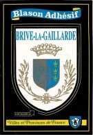 CARTE -AUTOCOLLANT-ECUSSON ADHESIF-Edit DEBAISIEUX-BRIVE La GAILLARDE-TBE - Autocollants