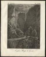 GONDO - ORIGINAL ENGRAVING ETCHING 1833 Karlsruher - Unterhaltungs - Blatt - Libri, Riviste, Fumetti
