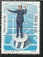 ITALIA REPUBBLICA ITALY REPUBLIC 2008 LE ISTITUZIONI POLIZIA LOCALE VIGILI URBANI USATO USED OBLITERE´ - 6. 1946-.. Repubblica