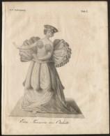 TAHITI - ORIGINAL ENGRAVING ETCHING 1833 - Karlsruher Unterhaltungs-Blatt - Boeken, Tijdschriften, Stripverhalen