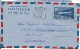 Australia Aerogramme Overseas Service Sent To Germany Brisbane 27-12-1961 - Luftpostleichtbriefe