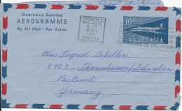 Australia Aerogramme Overseas Service Sent To Germany Brisbane 27-12-1961 - Aerogrammes