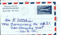 Australia Aerogramme Sent To USA Cabramatta 13-5-1965 - Aerogrammes