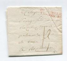 !!! MARQUE D'ARMEE DIVISION A HOLLANDE TROUPES FRANCAISES (R) SUR LETTRE DE ZURICKZE DU 28 VENDEMIAIRE AN 5 - Marcophilie (Lettres)