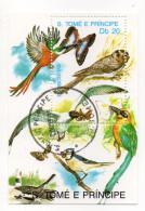 """SAO TOME ET PRINCIPE--1989---Feuillet """"Oiseaux Et Papillons""""  (chouette)............à Saisir - Sao Tome Et Principe"""