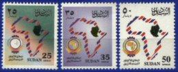 SUDAN, 1998, ANNIVERSARY OF THE UPAP, YV#471-73, MNH - Soudan (1954-...)