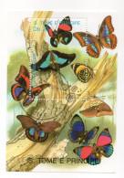 """SAO TOME ET PRINCIPE--1989---Feuillet """"Papillons""""  ...........à Saisir - São Tomé Und Príncipe"""