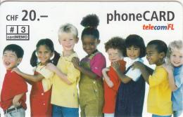 LIECHTENSTEIN - Children, Telecom FL Prepaid Card CHF 20, Exp.date 07/06, Used - Liechtenstein