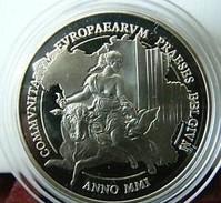 500 Francs 2001 Présidence Belge De L'Union Européenne *QP* Quality Proof - ARGENT PUR - 1993-...: Alberto II