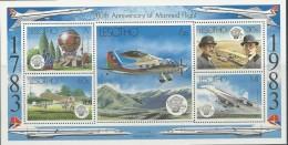 Lesotho, Yv Blok Jaar 1983, Vliegtuigen, Postfris (MNH) Zie Scan - Lesotho (1966-...)