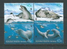 Australian Antarctic Territory 2001 Leopard Seals Block 4  MNH - Australian Antarctic Territory (AAT)